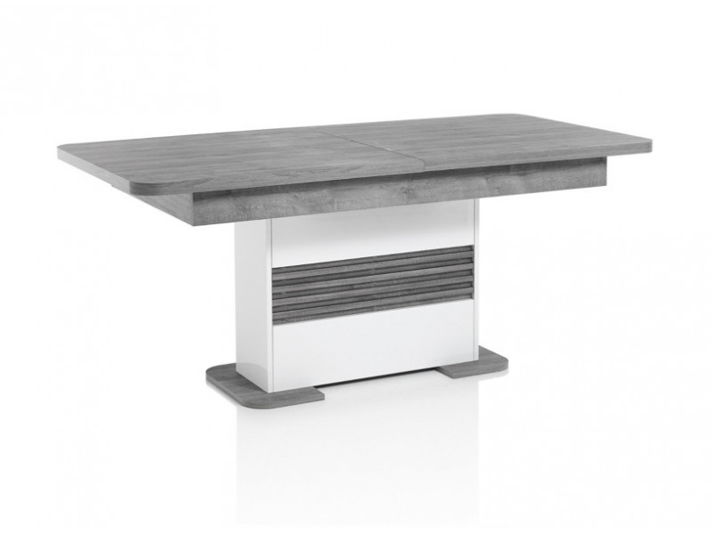 TABLE L180+ ALL VERTIGO blanc/chêne gris