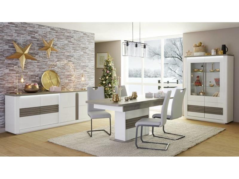 Table L180 All Vertigo Blanc Chene Gris Table But