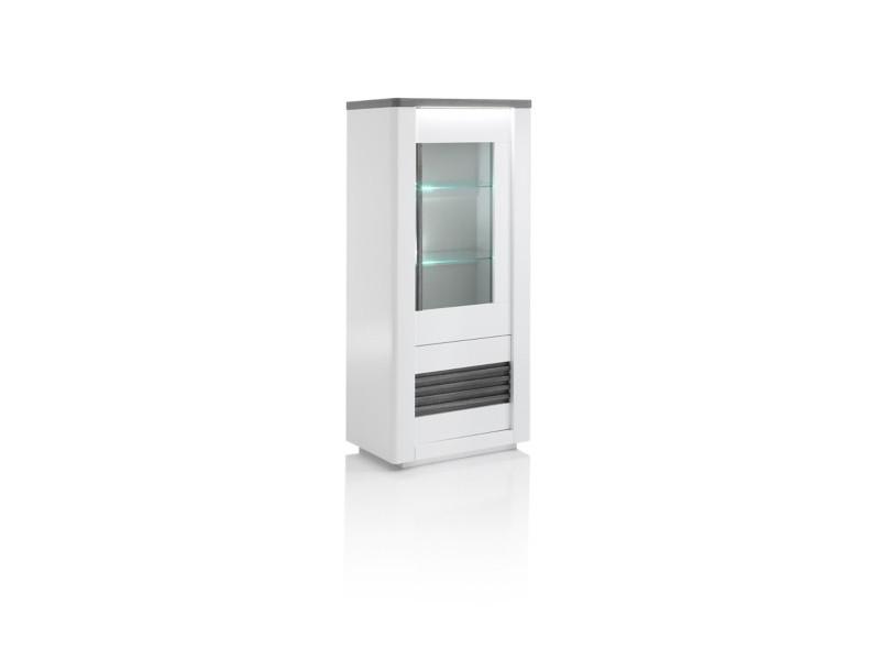 vitrine 2 portes VERTIGO blanc/chêne...
