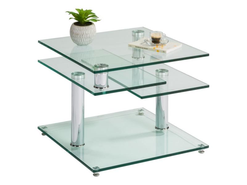 Table Basse Verre Et Chrome Dino 2 Avec 2 Plateaux Pivotants Table Basse But