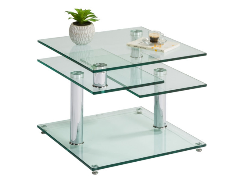 Table basse verre et chromé DINO 2...