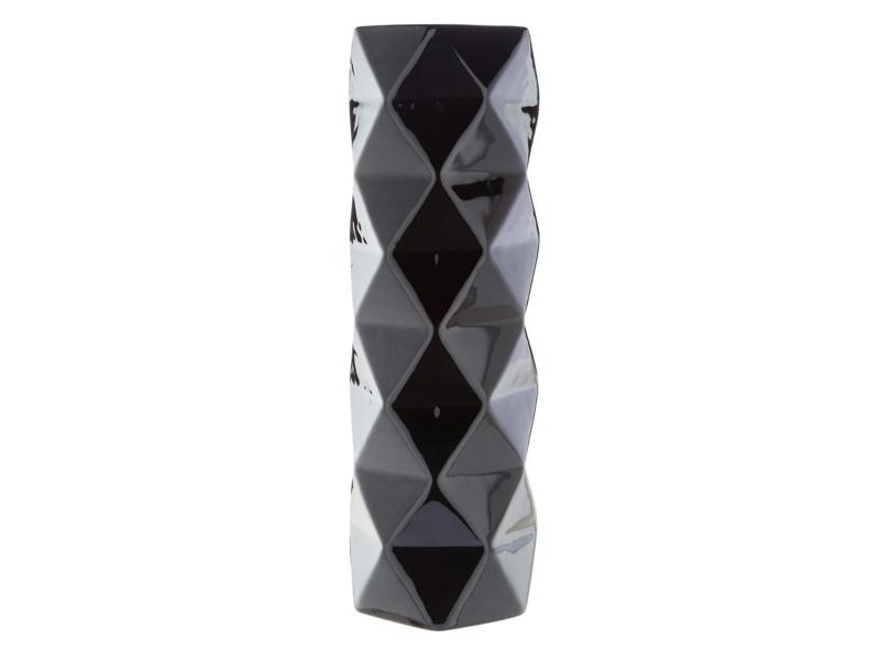 Vase H. 30 cm FACETTES Noir