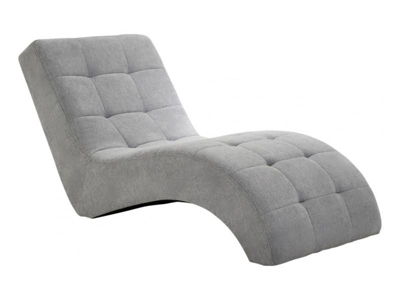 Chaise longue PATIO tissu Alfa gris...