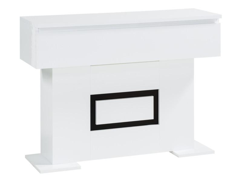 Console 1 Tiroir Riva 2 Blanc Noir Table Console But