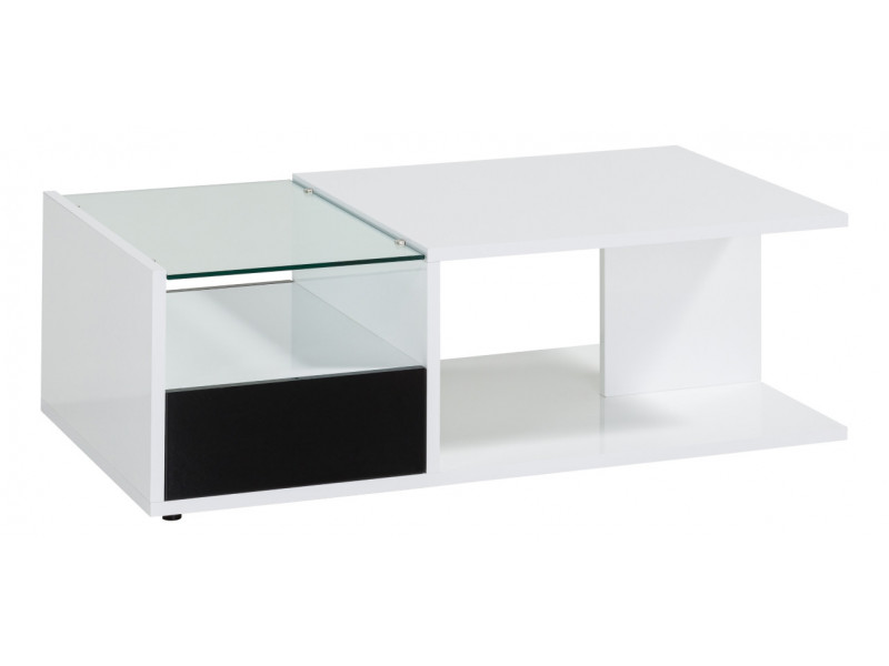 Table Basse RIVA 2 Blanc/noir