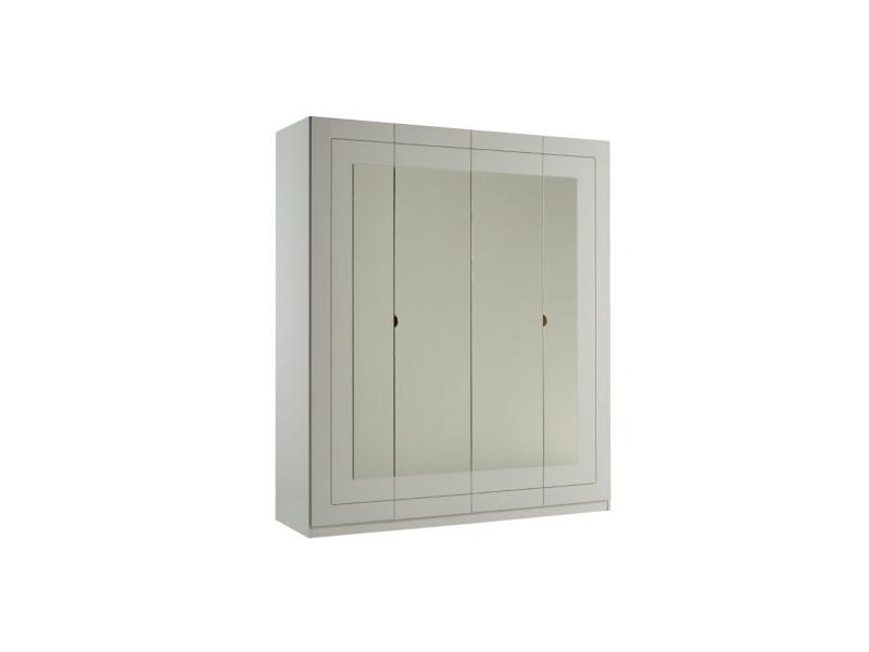 Armoire 4 portes L.180 cm ALASKA blanc