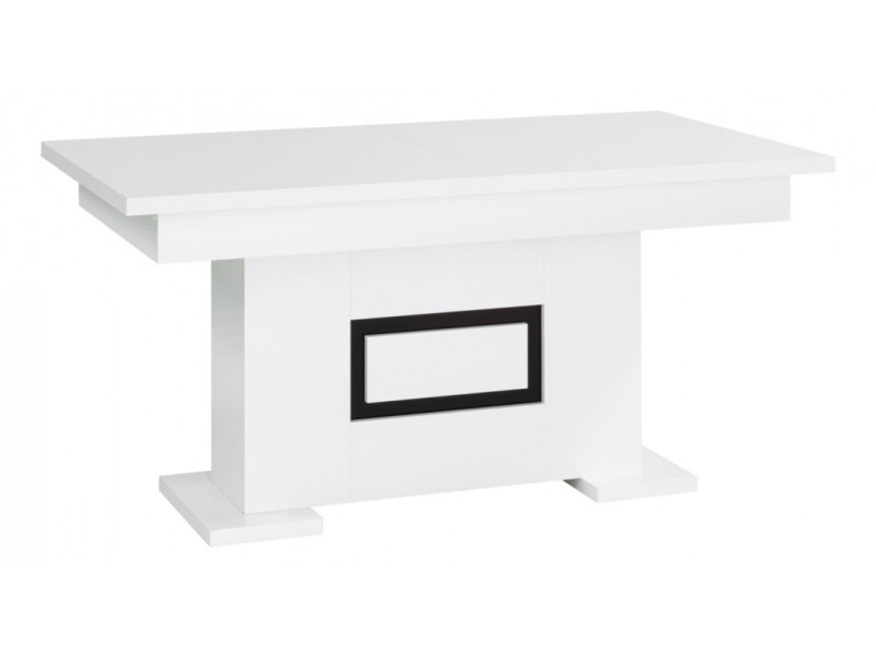 Table 190 cm + allonge RIVA 2 Blanc/noir