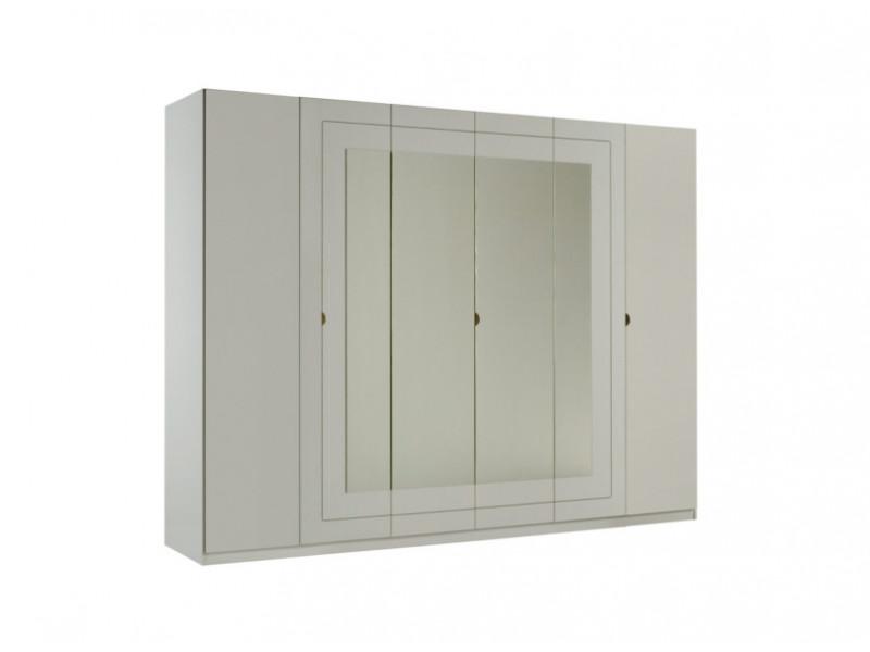 Armoire 6 portes L.269 cm ALASKA blanc